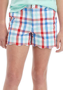 Crown & Ivy™ Girls 7-16 Scallop Shorts