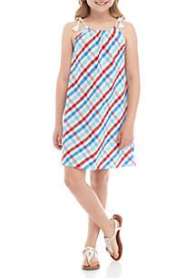 Crown & Ivy™ Girls 7-16 Tie Halter Dress