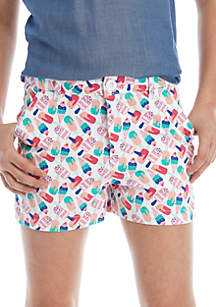 Crown & Ivy™ Girls 7-16 Twill Shorts
