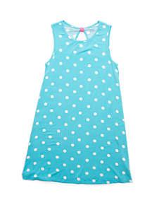 Crown & Ivy™ Girls 7-16 Printed Jersey Dress