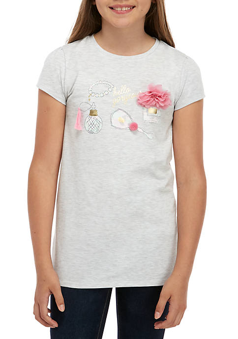 Crown & Ivy™ Girls 7-16 Short Sleeve Graphic