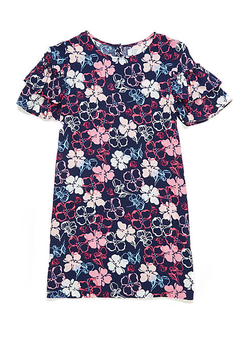 Crown & Ivy™ Girls 7-16 Short Bell Sleeve