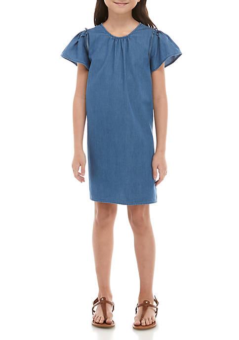 Crown & Ivy™ Girls 7-16 Pleated Sleeve Dress
