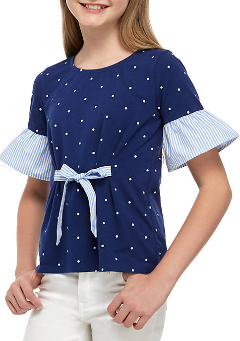 Crown & Ivy™ Girls 7-16 Tie Bow Front