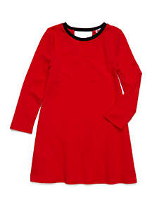 Crown & Ivy™ Girls 7-16 Solid Game Day Dress