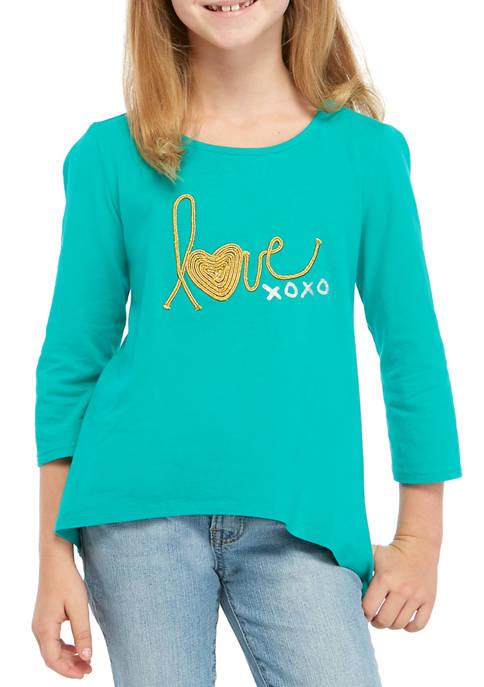 Crown & Ivy™ Girls 7-16 Graphic T-Shirt