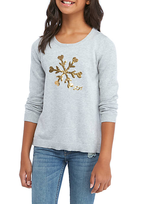 Crown & Ivy™ Girls 7-16 Long Sleeve Sweater