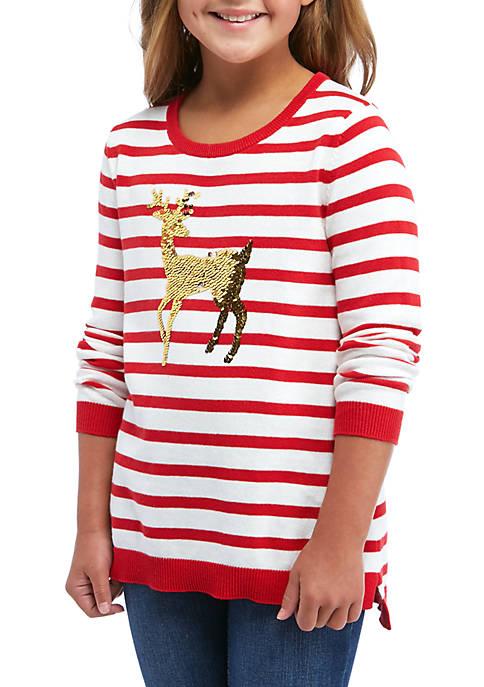 Crown & Ivy™ Girls 7-16 Long Sleeve Striped