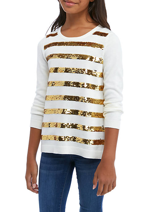 Crown & Ivy™ Girls 7-16 Long Sleeve Sweater
