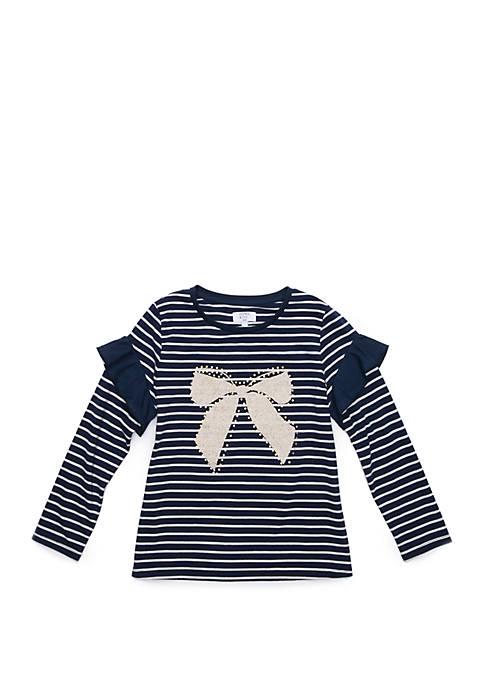 Crown & Ivy™ Girls 7-16 Ruffle Sleeve T-Shirt