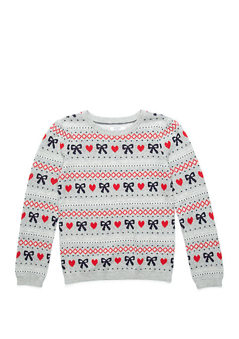 Crown & Ivy™ Girls 7-16 Pullover Sweater