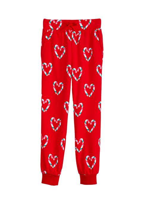 Crown & Ivy™ Girls 7-16 Printed Terry Sweatpants