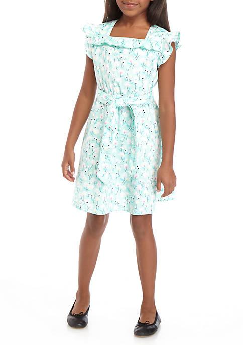 Crown & Ivy™ Girls 7-16 Ruffle Bow Dress