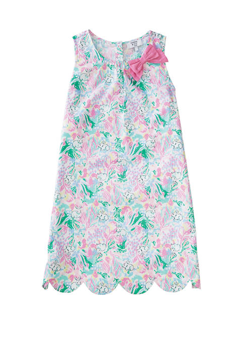 Crown & Ivy™ Girls 7-16 Sleeveless Scallop Dress