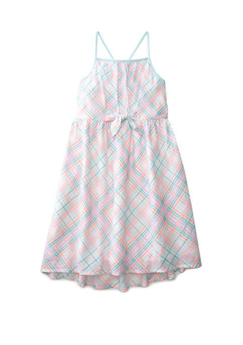 Crown & Ivy™ Girls 7-16 Strap Back Dress