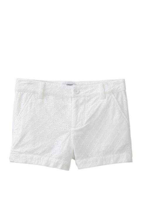 Crown & Ivy™ Girls 7-16 Straight Hem Shorts