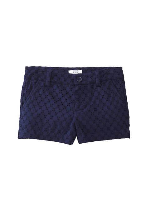 Crown & Ivy™ Girls 7-16 Straight Hem Shorts