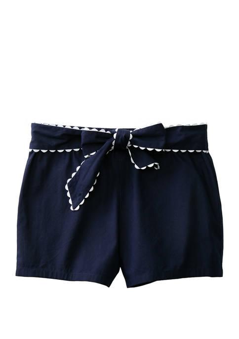 Girls 7-16 Bow Shorts