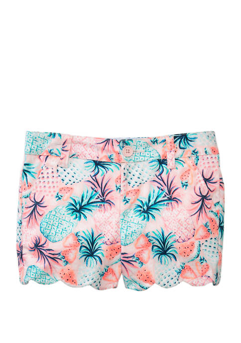Crown & Ivy™ Girls 7-16 Printed Scallop Shorts