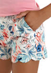 Girls 7-16 Printed Scallop Shorts