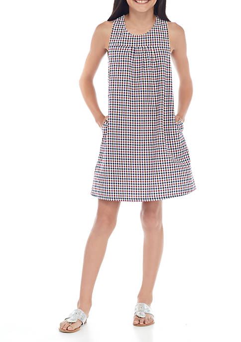 Crown & Ivy™ Girls 7-16 Gingham Knot Dress
