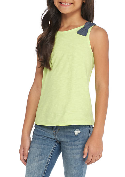 Crown & Ivy™ Girls 7-16 Bow Tank