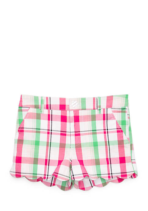 Crown & Ivy™ Girls Printed Scallop Shorts