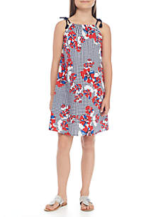 Girls 7-16 Mommy and Me Printed Tie Dress