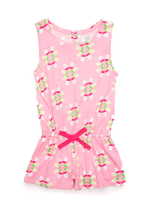 Crown & Ivy™ Girls 7-16 Print Romper
