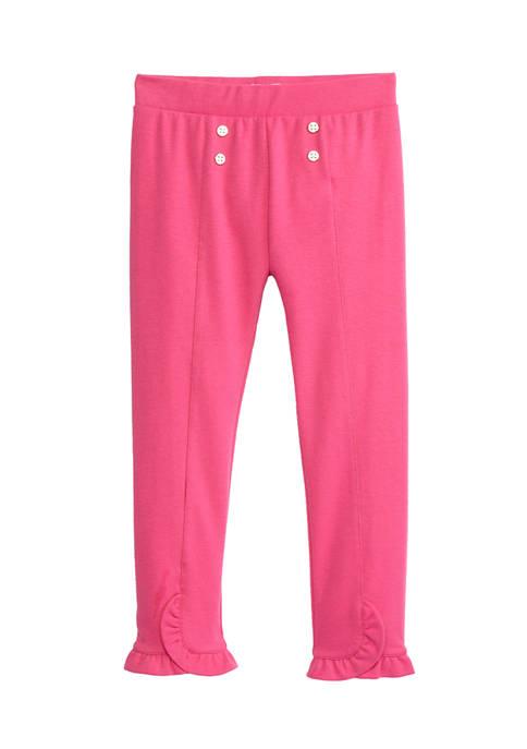 Crown & Ivy™ Girls 4-6x Ruffle Hem Pants