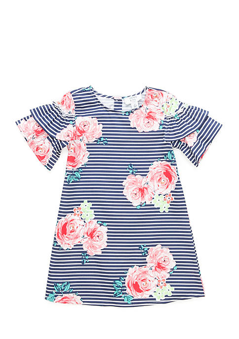 Crown & Ivy™ Toddler Girls Ruffle Woven Shoulder