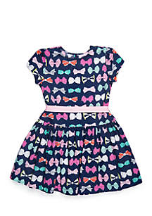 Girls 4-8 Belted Tulle Dress