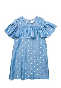 Girls 4-6x Chambray Dress