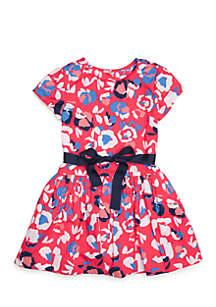 Toddler Girls Belted Tulle Dress
