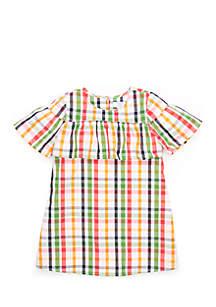 Girls 4-8 Chambray Dress