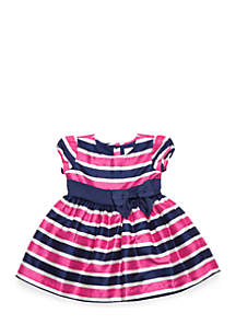 Girls 4-8 Short Sleeve Stripe Party Dress