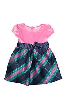 Girls 4-8 Short Sleeve Party Dress