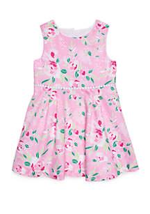 Crown & Ivy™ Girls 4-8 Bow Back Dress