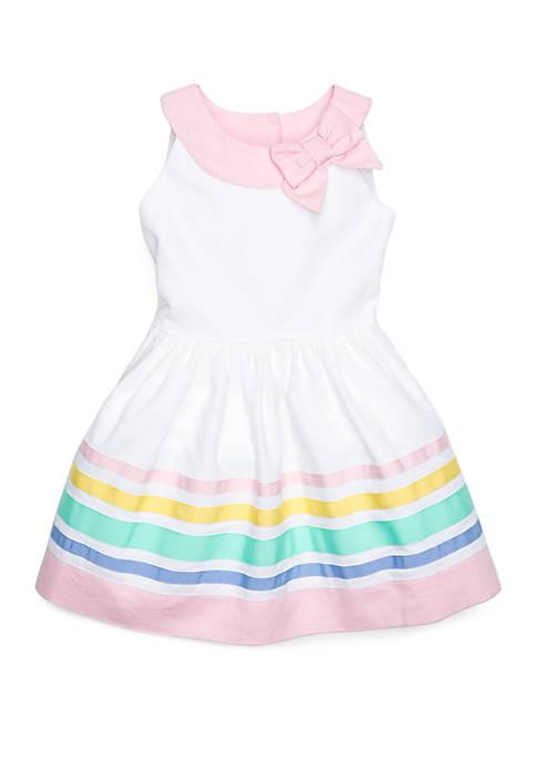Girls 4-8 Border Dress