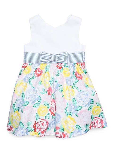Crown & Ivy™ Girls 4-8 Scallop Neck Dress