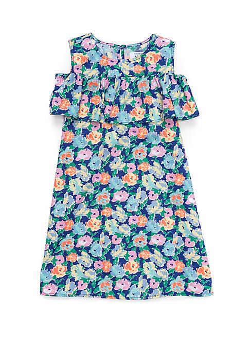Crown & Ivy™ Girls 4-8 Cold Shoulder Dress