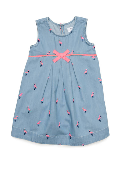 Girls 4-8 Pleated A-Line Dress