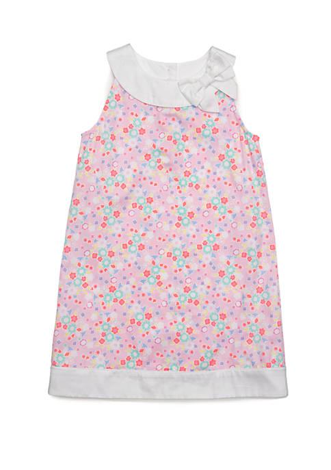 Girls 4-8 Pieced A-Line Dress