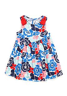 Crown & Ivy™ Girls 4-6x Asymmetrical Hem Dress