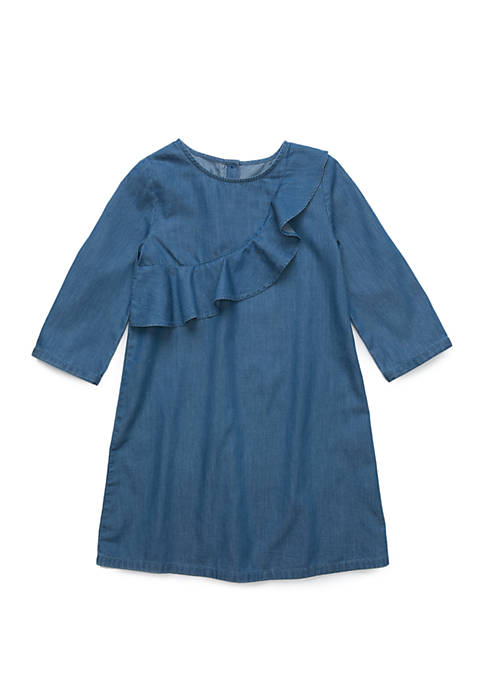 Crown & Ivy™ Girls 4-6x Ruffle Front Dress