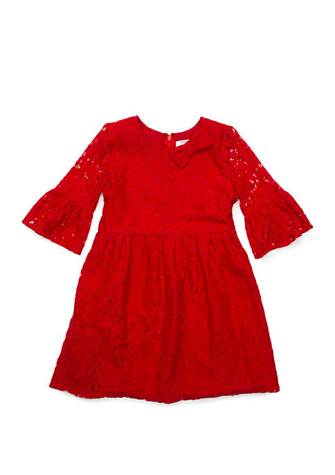 Crown & Ivy™ Girls 4-6x Lace Bell Sleeve