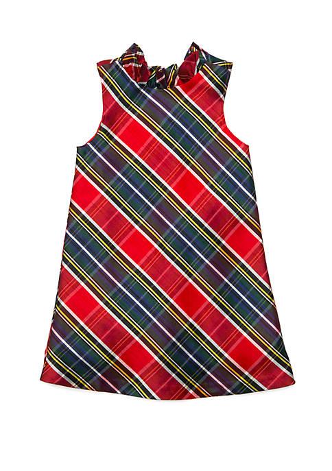 Crown & Ivy™ Girls 4-6x Ruffle Neck Dress