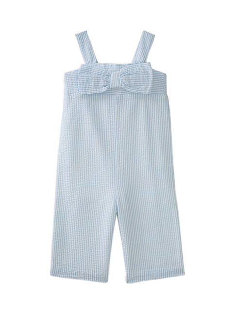 Crown & Ivy™ Girls 4-6x Bow Jumpsuit