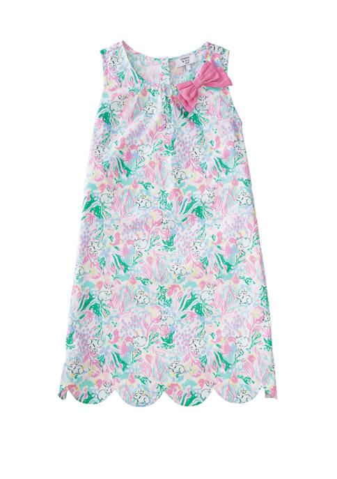 Crown & Ivy™ Girls 4-6x Scalloped Hem Dress