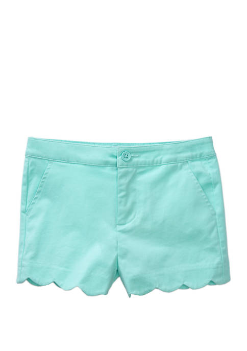 Crown & Ivy™ Girls 4-6x Scallop Shorts